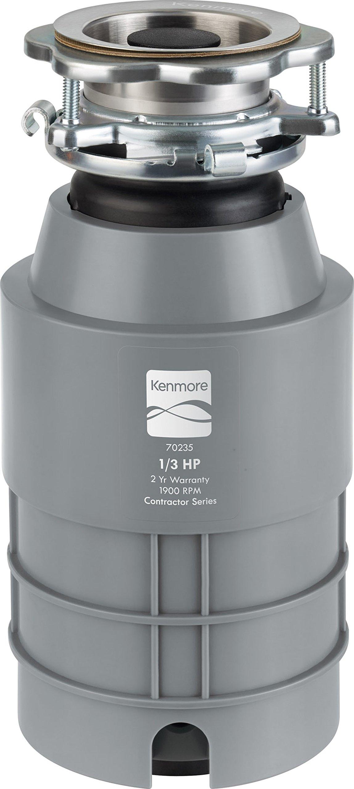 Kenmore 02270235 Disposer 1/3 Horsepower High Torque, Gray