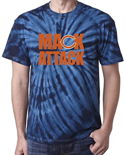 Amazon.com  TIE DYE Navy Chicago Mack Attack T-Shirt  Clothing d2efb32e6