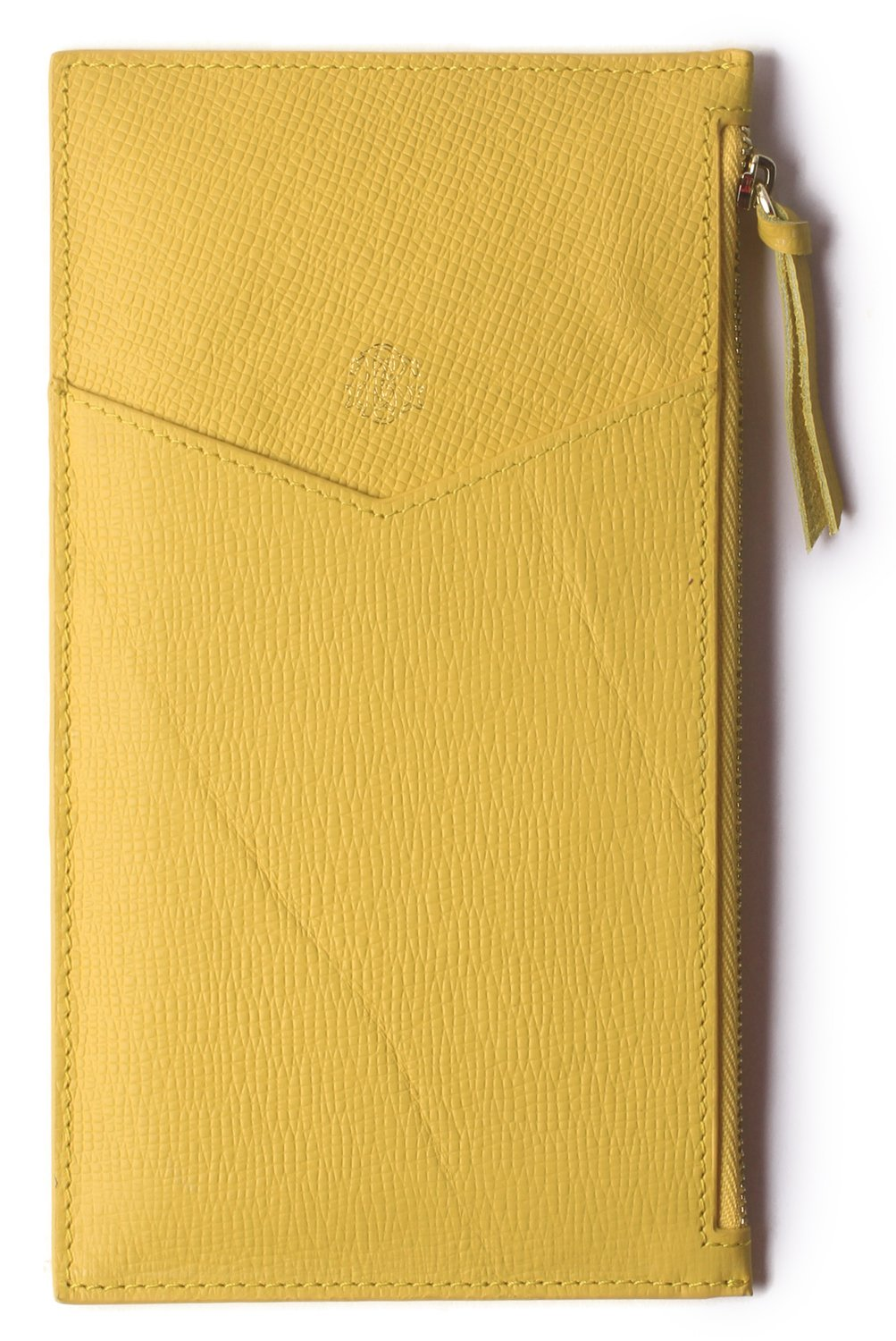 Borgasets Ultra-Thin Women's Wallet RFID Blocking Leather Credit Card Holder Zipper Purse for Phone Yellow