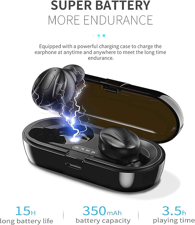 /Écouteurs sans Fil /écouteurs st/ér/éo Bluetooth 5.0 V/éritables /écouteurs Intra-Auriculaires sans Fil IPX5 /étanches avec /étui de Chargement /à Affichage num/érique LCD Intelligent(J04