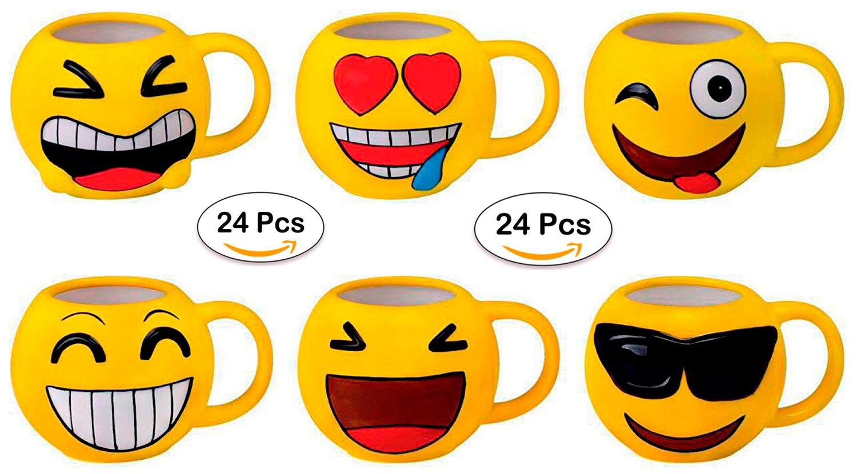 Disok Lote 24 Tazas Emoticonos Regalos De Comuniones Niñosniñas