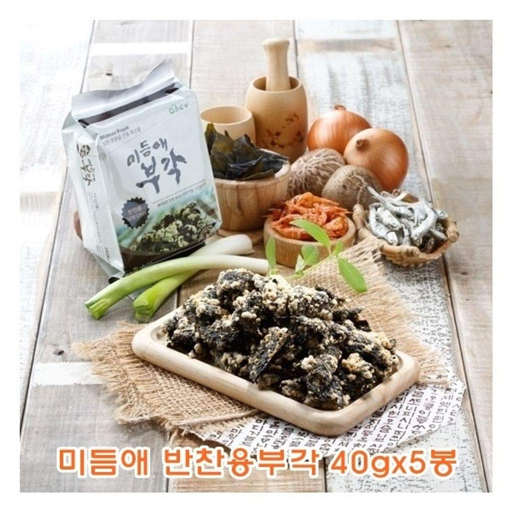 Fried Seaweed and Anchovy with Sticky Rice for Side Dish 40g x 5 packs 부각