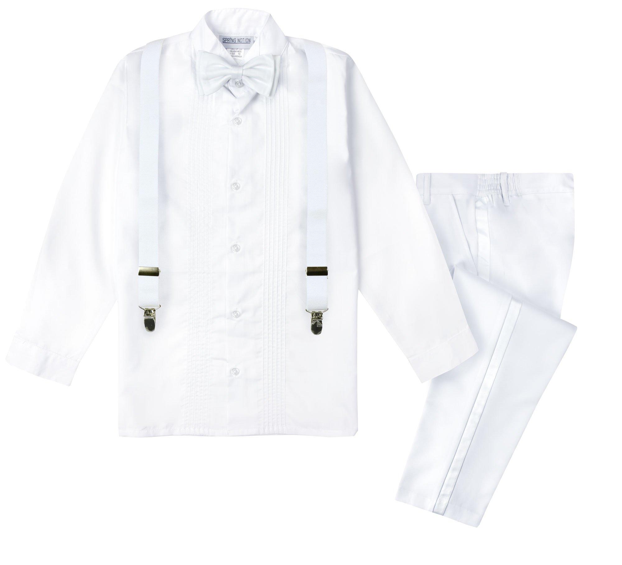 Spring Notion Boys' Tuxedo Suspender Set 08 Style 06