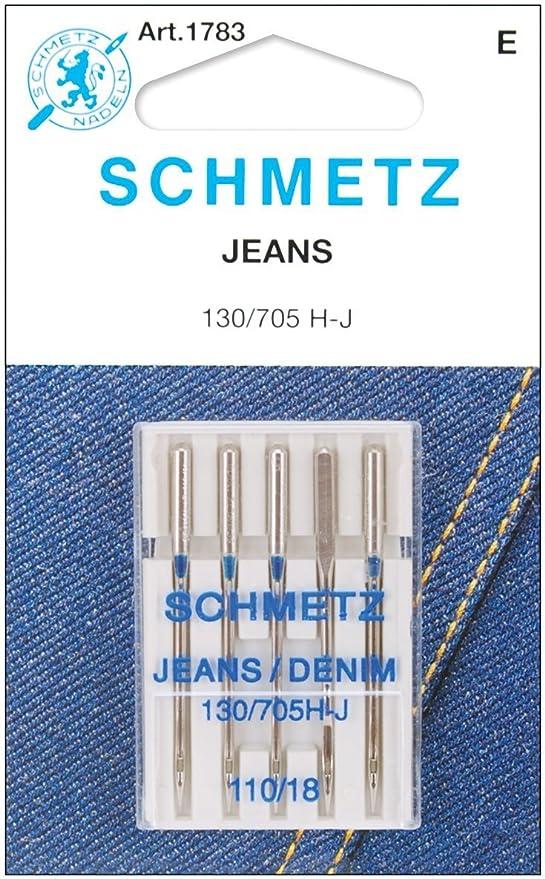 Amazon.com: Jean & Denim - Agujas para máquina (tamaño 18 ...