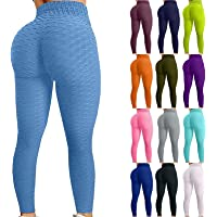 TikTok Leggingsfor Women, Yoga Pants High Waist Tummy Control Booty Bubble Hip Lifting Workout Running Tights