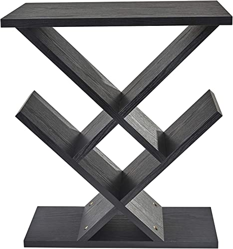 Adesso Zig-Zag Accent Table – Table Bookshelf – Storage Side Table. Home Furnishings and Decor