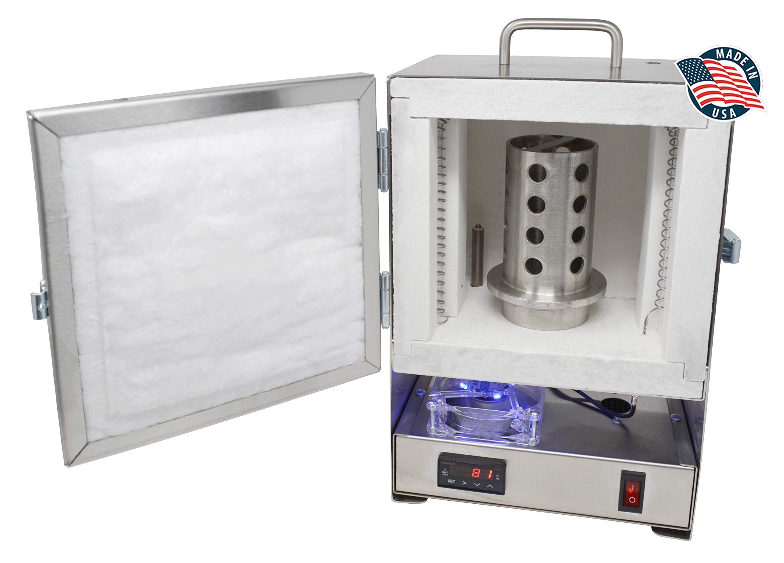 Tabletop Hi-Temp 2200 Degree Electric Burnout Oven Kiln Vent Hole Standard Controller Furnace Jewelry Making Dental Casting Wax 3D Resin PLA Burnout Made in The U.S.A. by PMC Supplies LLC