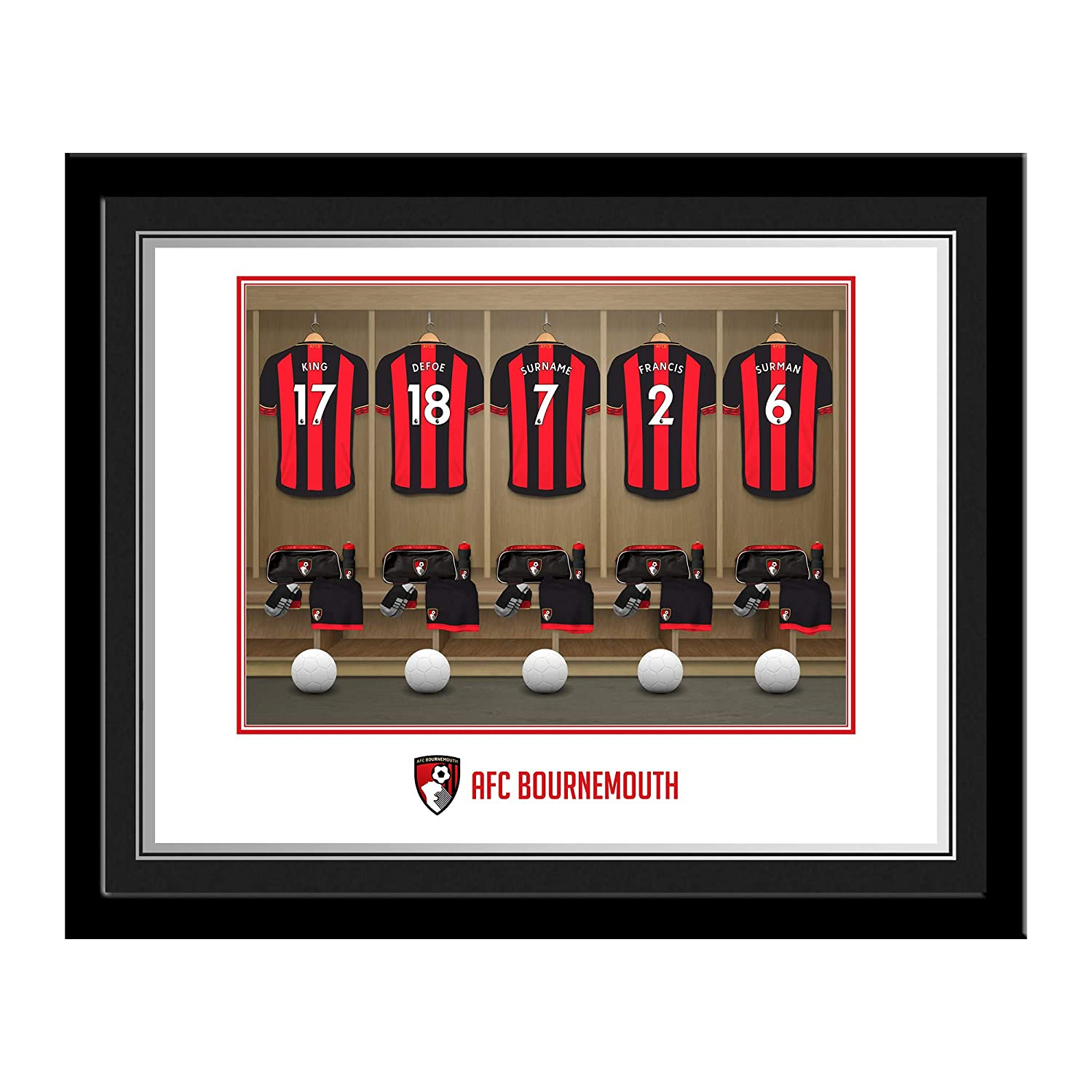 Personalised Official AFC Bournemouth Dressing Room Photo Framed UR-Inthepaper Limited