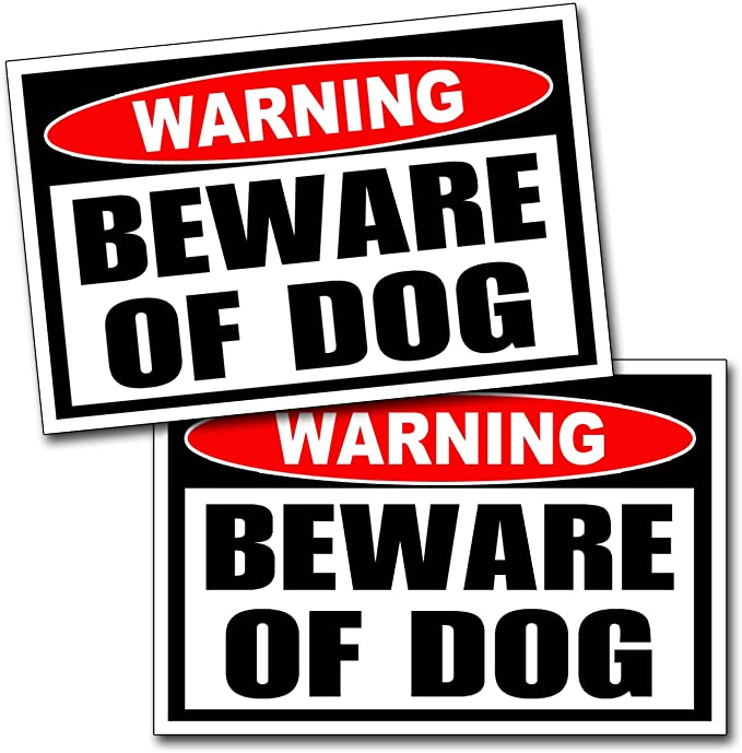 DECAL Beware Of Dogs Warning Dogs Will Bite Do Not Enter security trespass DBD39