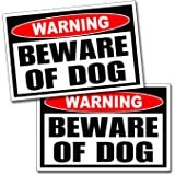 Beware of Dog Warning Danger Sticker Vinyl Decal Dogs