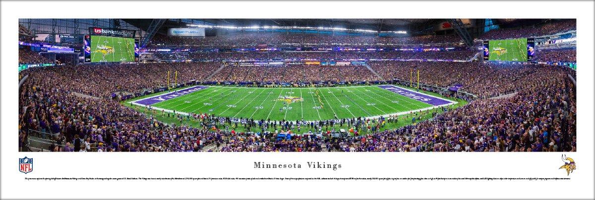 MN Vikings - 1st Game at US Bank Stadium - Blakeway Panoramas Unframed NFL Posters by Blakeway Worldwide Panoramas, Inc.