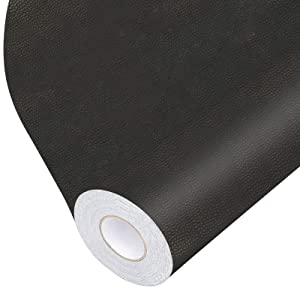 Leather Repair Tape, Self-Adhesive Leather Repair Patch for Handbags,Furniture, Drivers Seat, Sofas, Car Seats (Black, 17X79 inch)