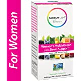 Rainbow Light Vibrance Women's Multivitamin Plus Stress Support, Made with Whole Foods, 120 Count
