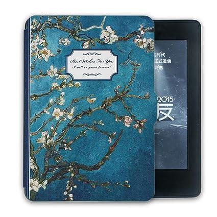 4833379484ca Kandouren Amozon Kindle Paperwhite Case - Van gogh Apricot blossom Art Skin