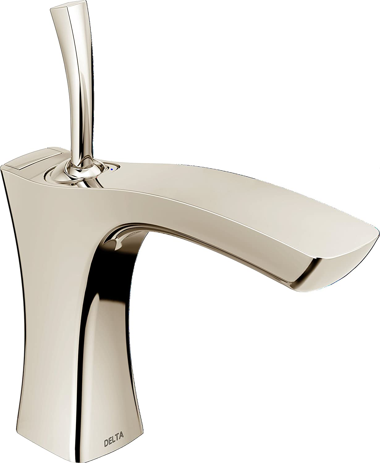 DELTA FAUCET 552LF-PNMPU Tesla Single Handle Bathroom Faucet Metal ...