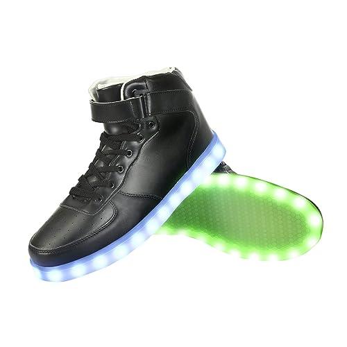new concept 57e1d 9b7a0 GreatJoy Cool Fun Light Up LED Shoes Sneaker 7 Colors USB Charging