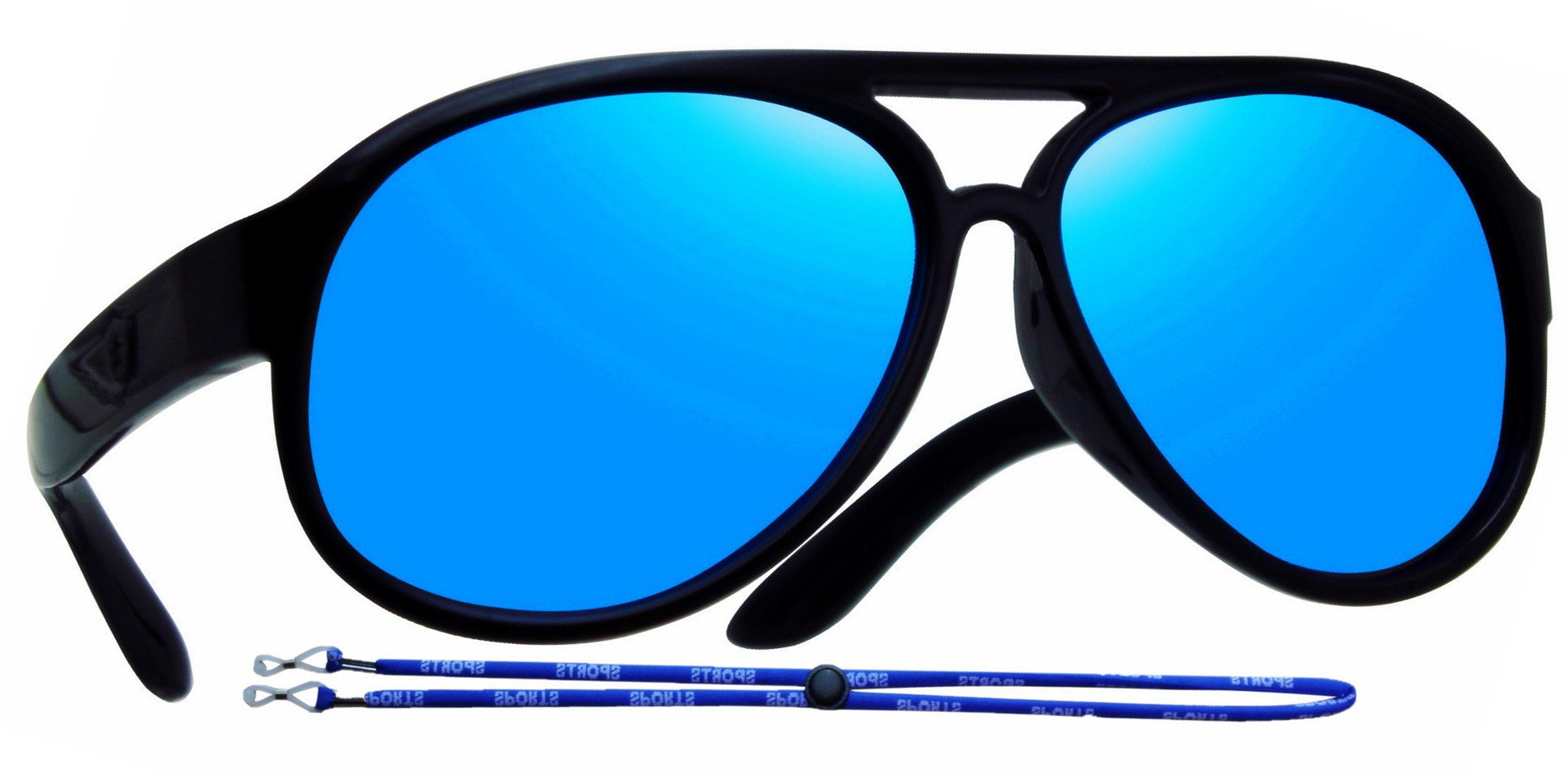 Coolsome Kids Rubber Flexible Polarized Aviator Sunglasses Boys Girls Age 3-9 Years (Mirror Black)