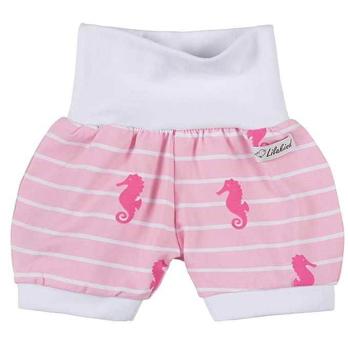 Lilakind Kurze M/ädchen Pumphose Shorts Buxe Sommerhose Seepferdchen Made in Germany