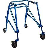 Klip Lightweight Medical Posterior Rollator Walker/Gait Trainer, 4 Wheel - for Toddlers, Kids, Teens with Special Needs, Cere