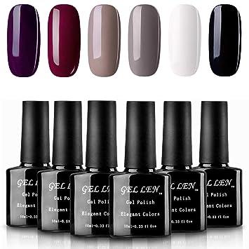 Amazon.com : Gellen Classic Elegance Colors UV Gel Nail Polish Set ...