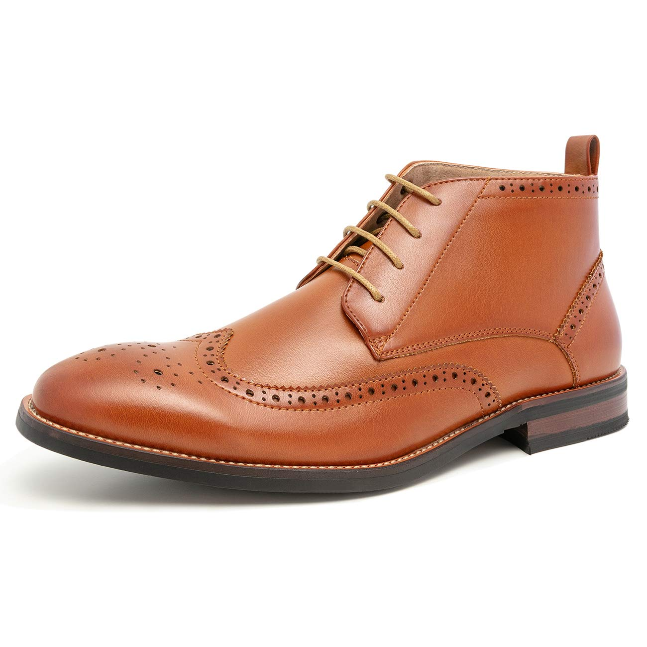 WULFUL Mens Leather Lined Oxfords Ankle Boots Tan 12 by WULFUL