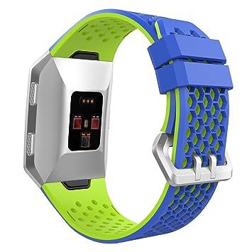 MoKo Fitbit Ionic Bands con Anillo de Sujeción, Correa Deportiva de Repuesto Ajustable de Silicona Suave para Fitbit Ionic Smart Watch, Talla L ...
