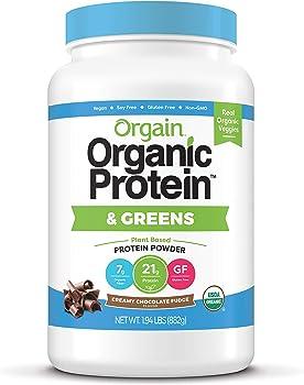 Orgain Organic Plant Based 1.94 lbs Protein & Greens Powder