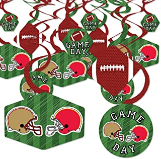 product image for Big Dot of Happiness Super Football Bowl - Sports Game Day Party Hanging Decor - Party Decoration Swirls - Set of 40