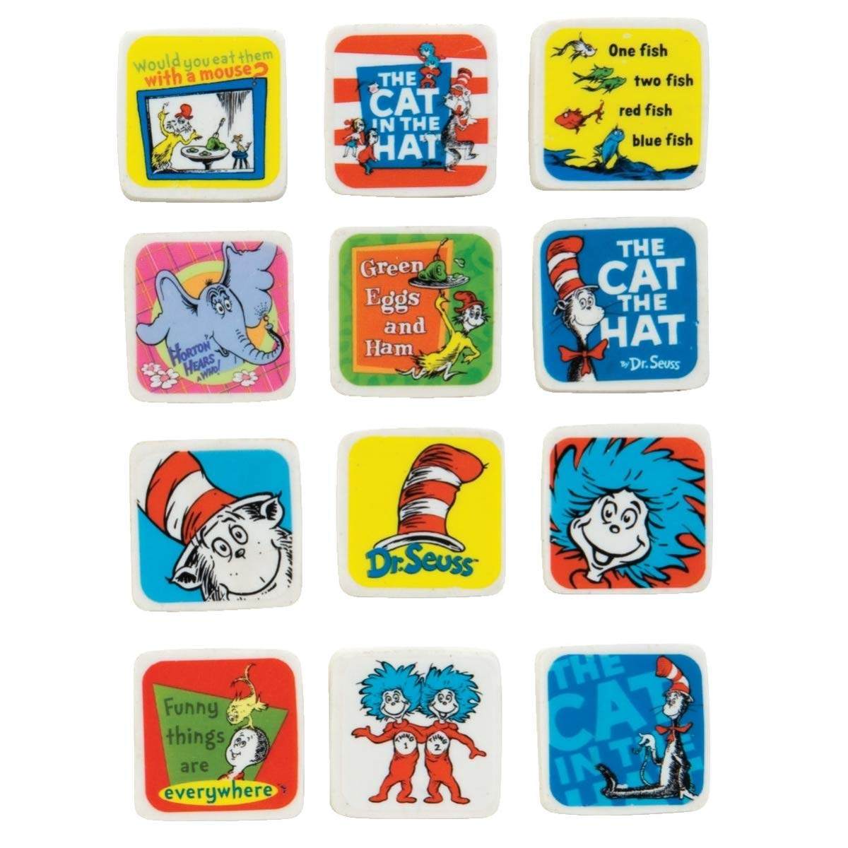 Dr. Seuss Character Eraser - Pack of 180