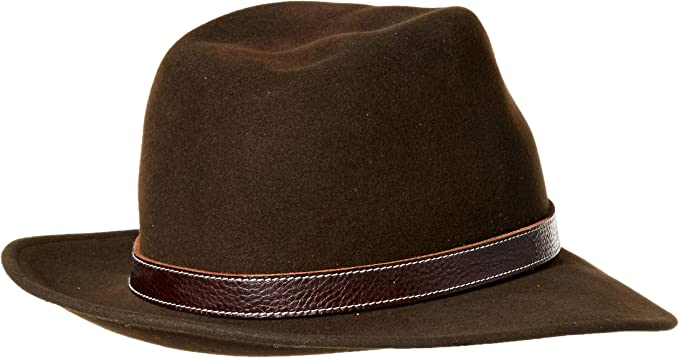 Bailey of Hollywood Widebrim Fedora Kinnon USA Hat Medium Beaver   New