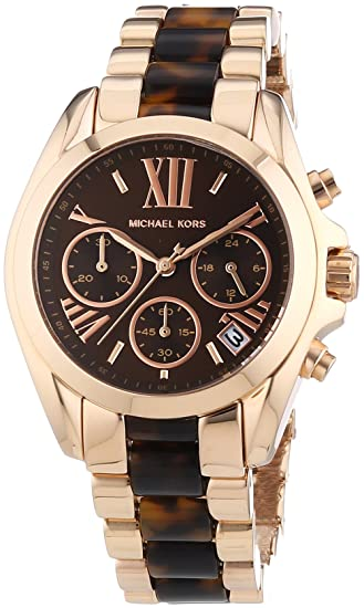 220845b7c Michael Kors Bradshaw Chronograph Brown Dial Rose Gold-tone and  Tortoiseshell Acetate Ladies Watch MK5944: Amazon.ca: Watches
