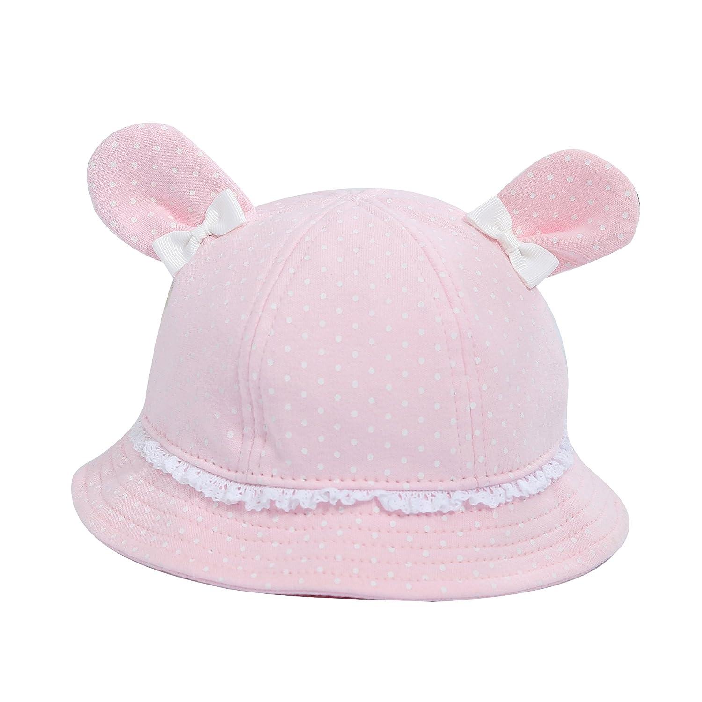 YueLian Unisex Baby Polka Dots Ears Summer Bucket Sun Outdoor Hat