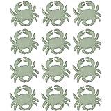 Chesapeake Bay Distressed White Cast Iron Coastal Crab Drawer Pull Set of 12