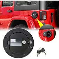 HK Fuel Filler Door Gas Tank Cap Cover Accessories for 2007-2017 Jeep Wrangler JK /& Unlimited Sport Rubicon Sahara 2-Door 4-Door With Car Cup Mat and Tire Valve Caps USA Flag