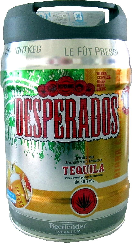 Desperados Bier mit Tequila im 5 Liter Fass inkl. Zapfhahn: Amazon ...