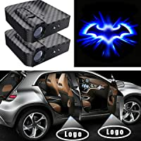 Car Door Lights, LED Welcome Logo Lights Wireless Projection Shadow Lights Ghost Shadow Laser Lamp Car Decoration Lights Powered by Battery Fit for Bat (2 Pack)