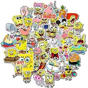 50 Unids/Pack Bob Esponja Pegatinas Dibujos Animados Graffiti ...