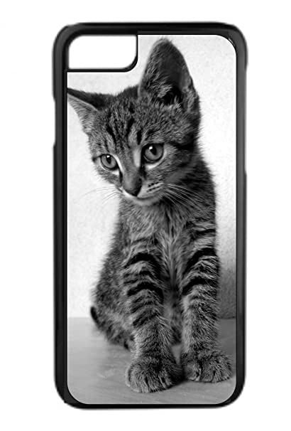 Amazon Com Greyscale Kitten Design Black Rubber Case For