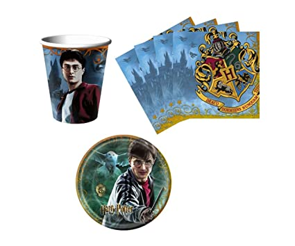 Amazoncom Harry Potter Birthday Party Supplies Set Plates Napkins