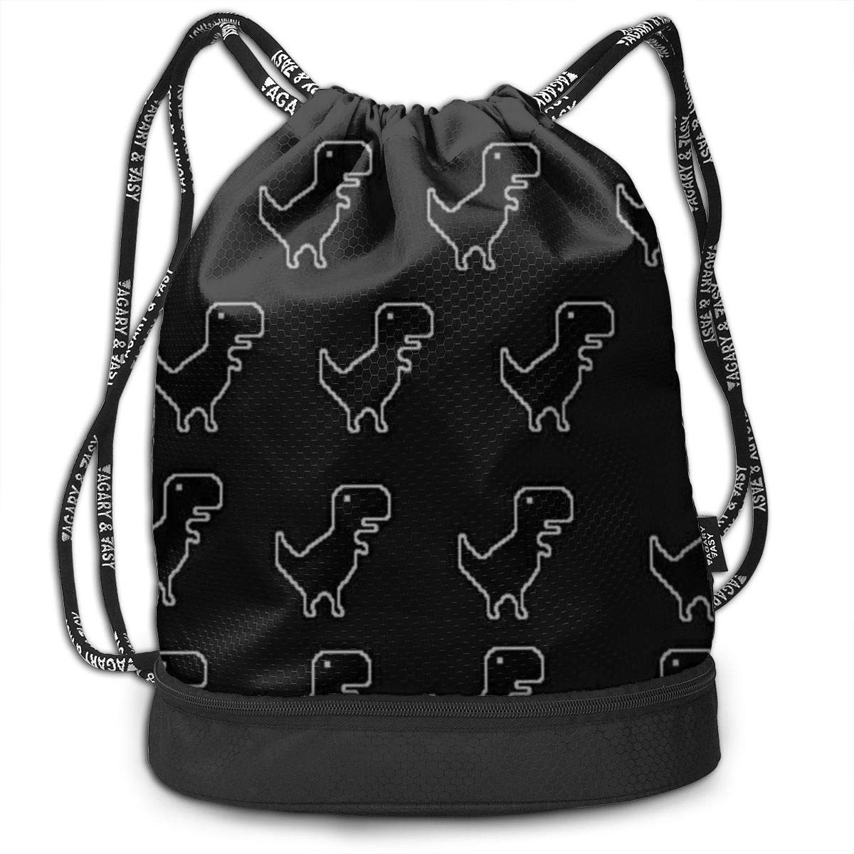 Lightweight Waterproof Large Storage Drawstring Bag For Men /& Women Dinosaur Pattern Cinch Backpack Sackpack Tote Sack
