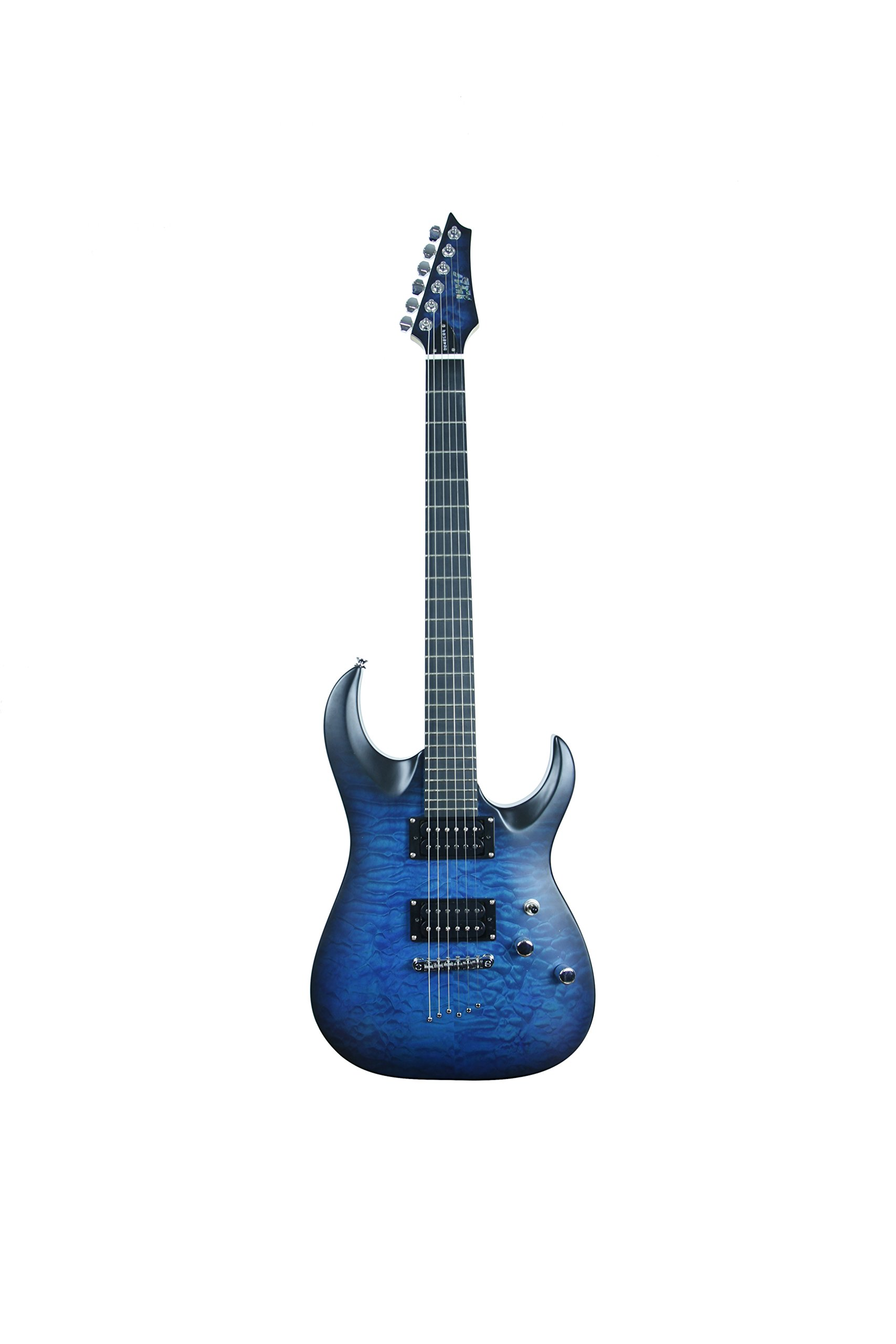 ivy IS-300 TBL Strat Solid-Body Electric Guitar, Trans Blue Burst by Unknown