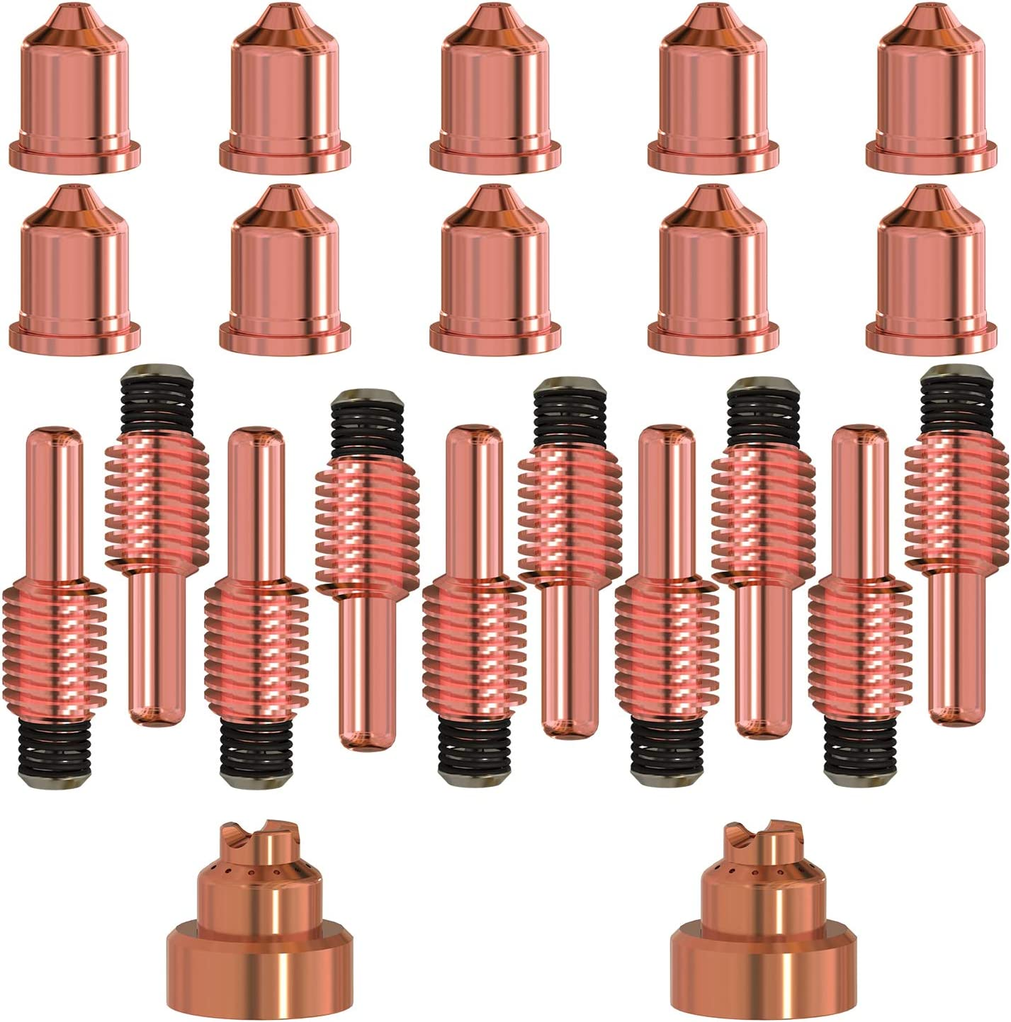 AIC 10PCS 220941 Plasma Electrodes 10PCS 220842 Plasma 2PCS 220818 Plasma Tips Fit Hypertherm Powermax 45//65//85//105