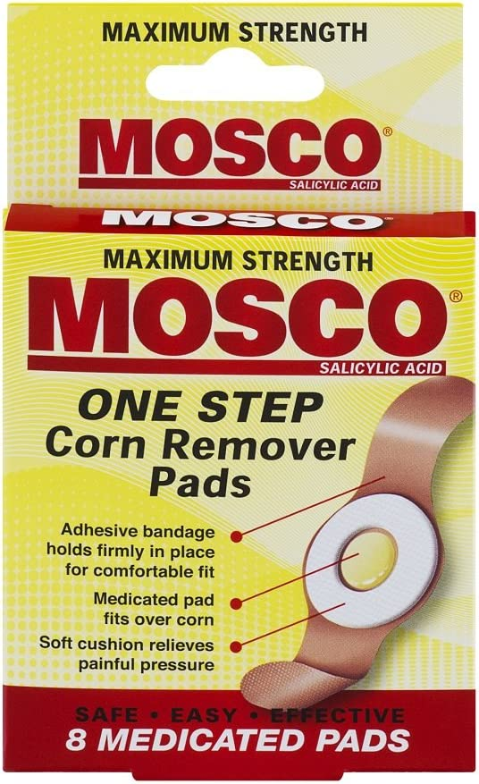 Mosco One Step Corn Remover Pads, 8 Medicated Pads: Health & Personal Care