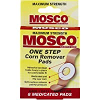 Mosco One Step Corn Remover Pads, Maximum Strength, 8 medicated pads (Pack of 6)