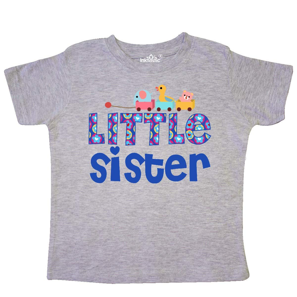 inktastic Toy Train Little Sister Gifts Toddler T-Shirt