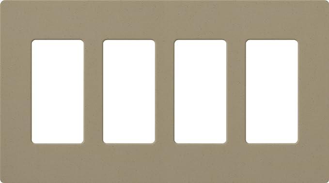 Lutron SC-4-MS Satin Colors 4-Gang Wallplate, Mocha Stone - Wall Plates - Amazon.com