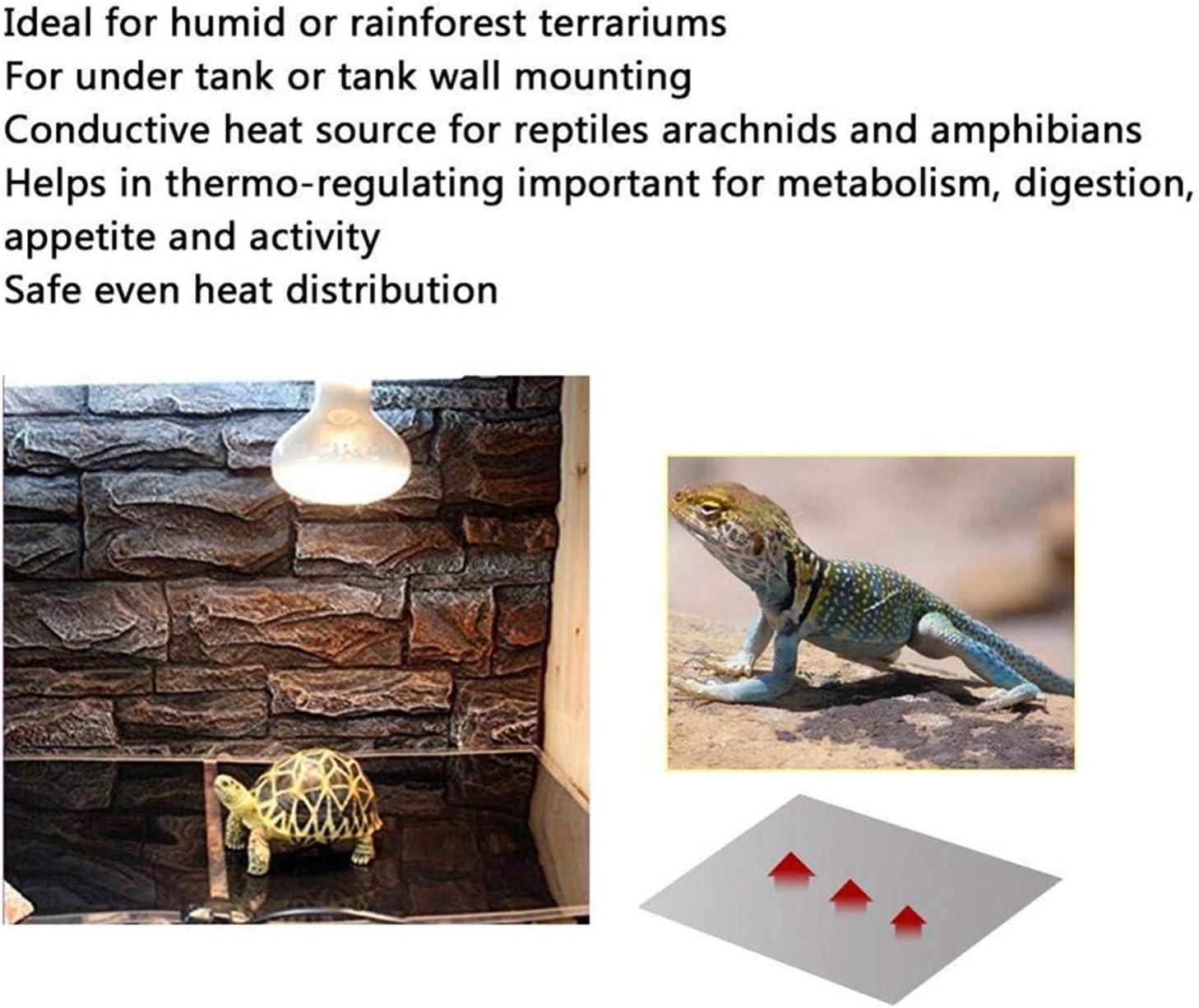 STARPIA Manta Termica para Reptiles, 5W 7W 14W 20W Manta Termica Calor Ajustable con Control De Temperatura, Reptil Almohadilla Térmica Reptil Heat Mat para Anfibios Invertebrado Terrarios (20W): Amazon.es: Jardín