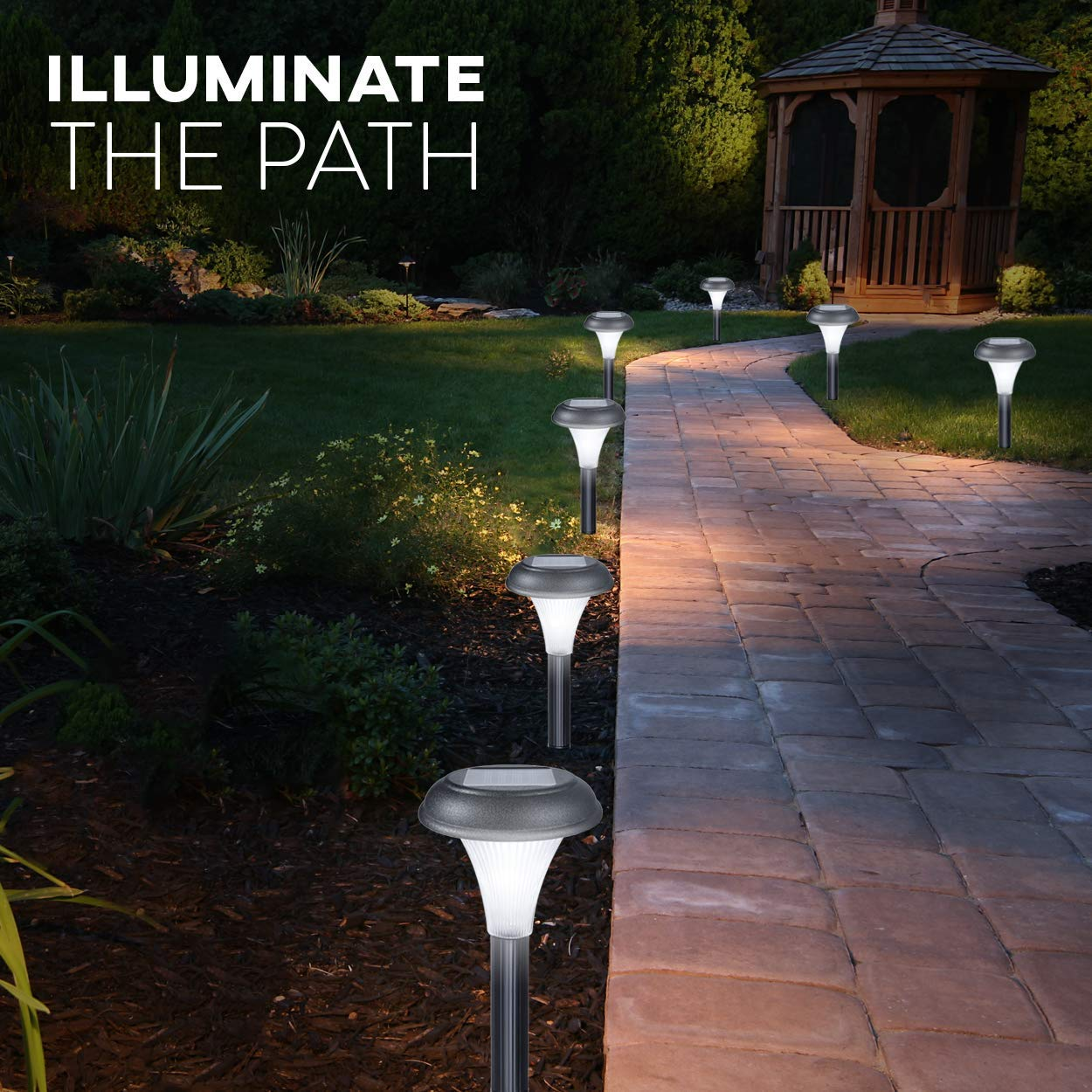Gardenbliss Best Solar Lights For Outdoor Pathway 10 Brightest Wiring Outside Landscape Light Set Walkway Patio Path Lawn Garden Yard Decor Double Waterproof Seal