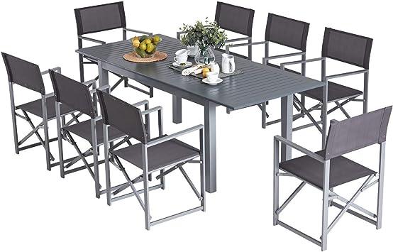 Laxllent Ensemble Table Fauteuil, Rétractable Table en ...