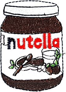 Chocolate Hazelnut Spread Dessert Food Cartoon Children Kid Patch Clothes Bag T-Shirt Jeans Biker Badge Applique Iron on/Sew On Patch